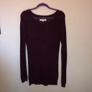 Maroon Knit Loft Sweater